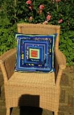 blauwe kussen quilt 4